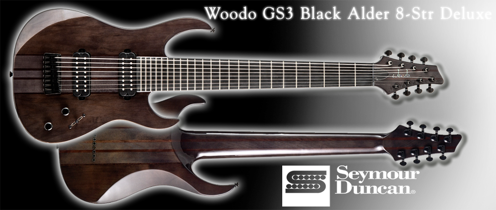 Woodo GS3 Black Alder 8-str DLX